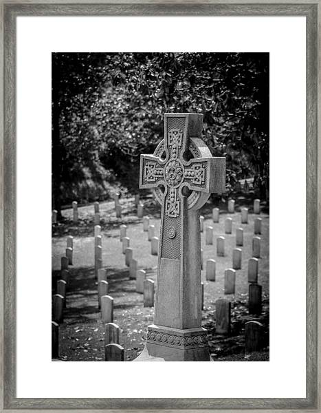 Celtic Grave Framed Print