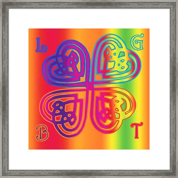 Celtic Knot Rainbow Framed Print