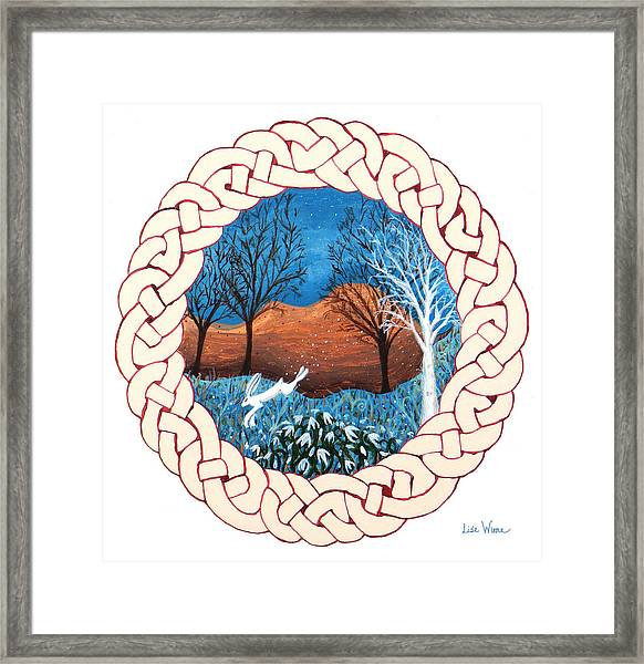 Celtic Knot With Bunny Framed Print