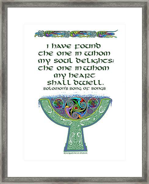 Celtic Wedding Goblet Framed Print