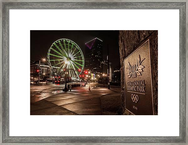 Centennial Park 2 Framed Print