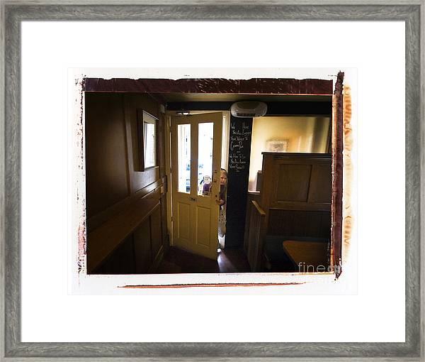 Center Page Girl Framed Print