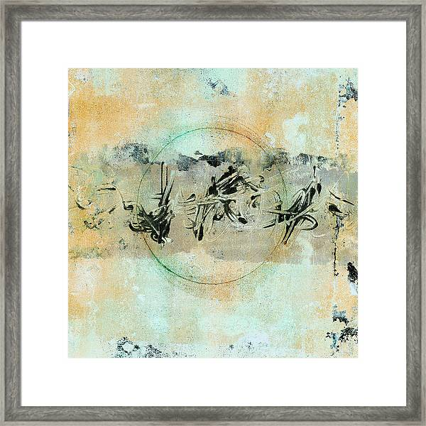 Centered Within Chaos Framed Print