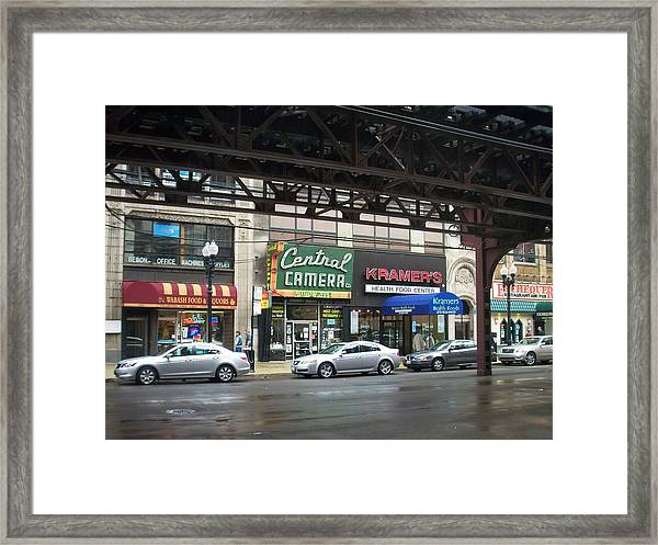 Central Camera On Wabash Ave  Framed Print