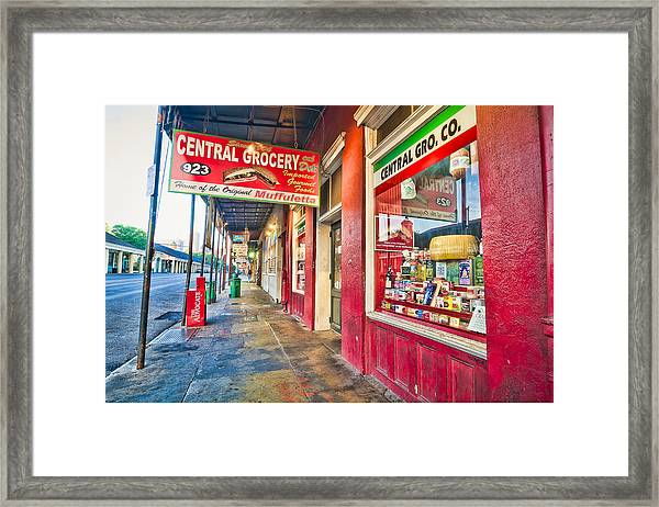 Central Grocery And Deli In The French Quarter Framed Print