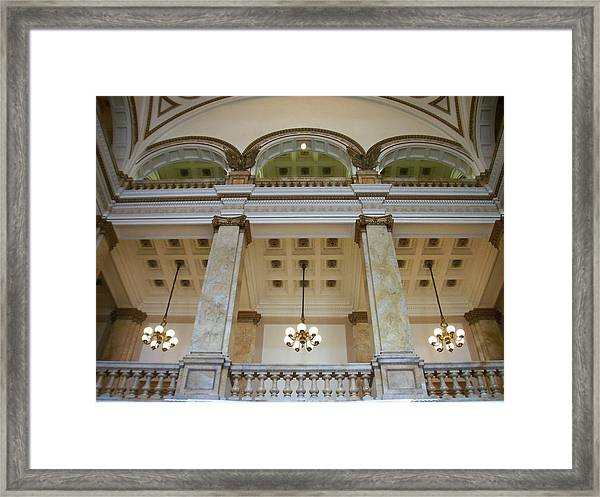 Central Library Milwaukee Interior Framed Print