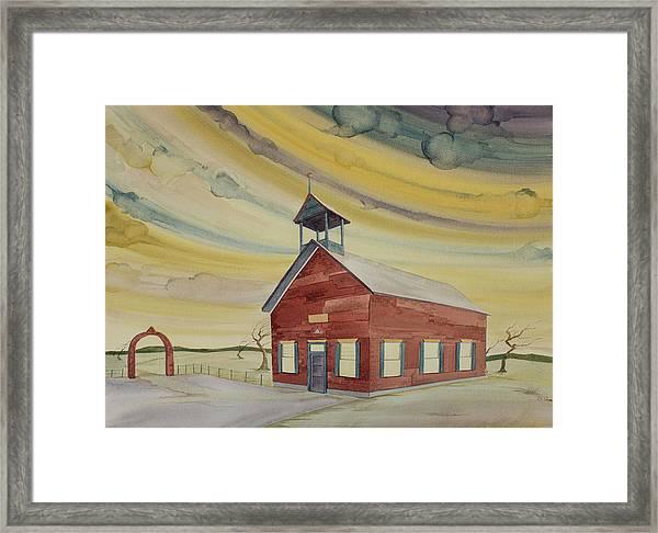 Central Ohio Schoolhouse Framed Print