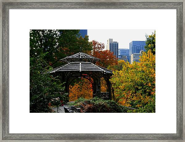 Central Park Gazebo Framed Print