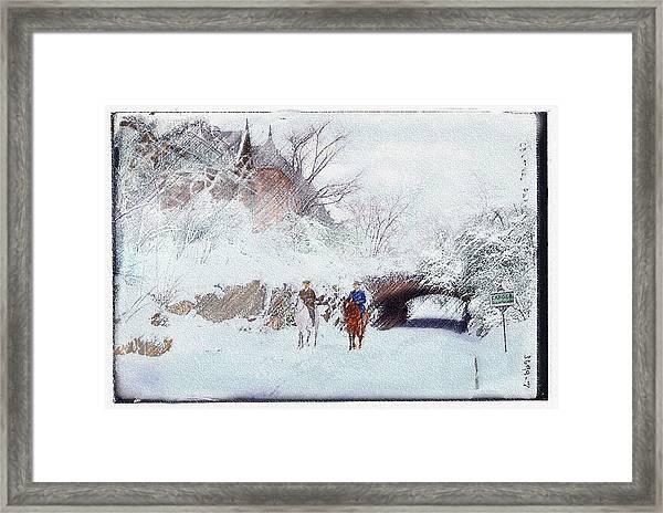 Central Park Snow Framed Print
