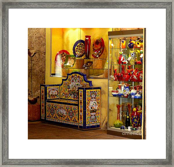 Ceramic Crafts In A Shop Framed Print
