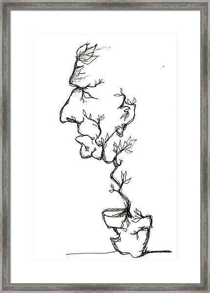 Cesar Salad-cracked Pots Framed Print