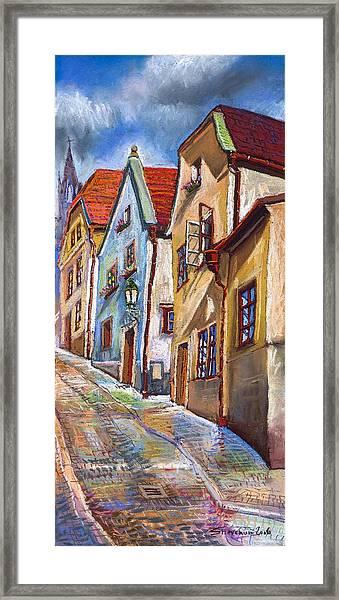 Cesky Krumlov Old Street 2 Framed Print
