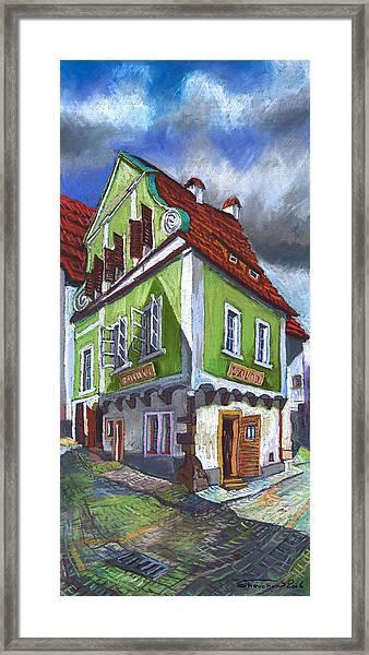 Cesky Krumlov Old Street 3 Framed Print