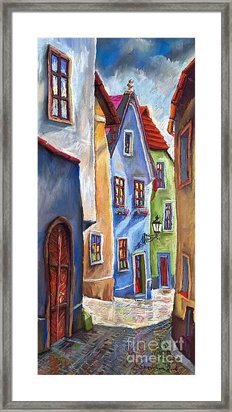 Cesky Krumlov Old Street Framed Print
