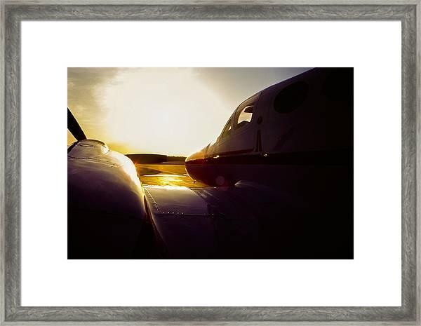 Cessna 421c Golden Eagle IIi Silhouette Framed Print