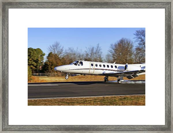 Cessna Citation Touchdown Framed Print