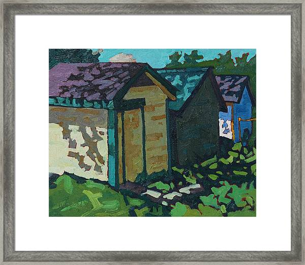 Chaffey Boat Houses Framed Print
