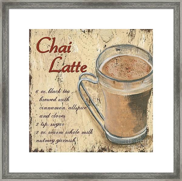Chai Latte Framed Print