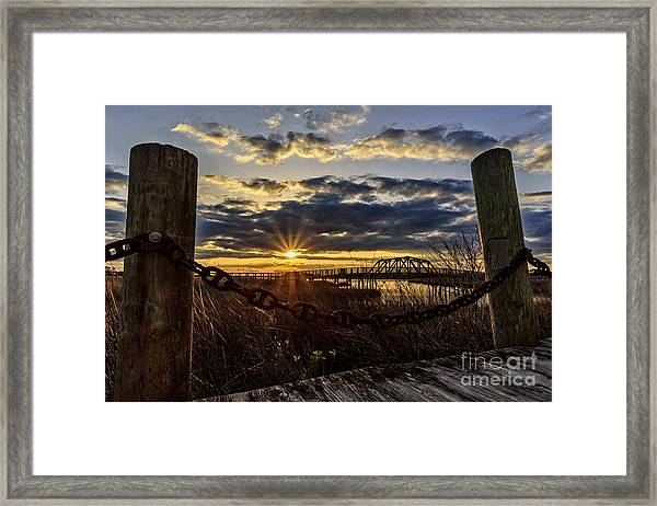 Chained View Framed Print