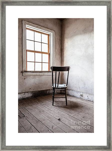 Chair By The Window Grafton Ghost Town Framed Print