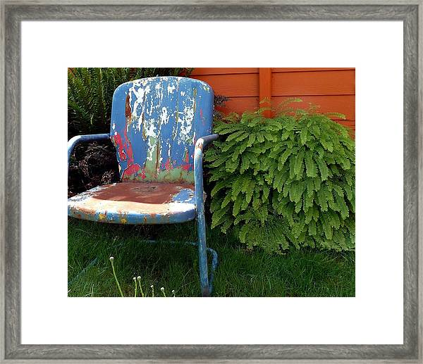 Chair Of Many Colors Framed Print