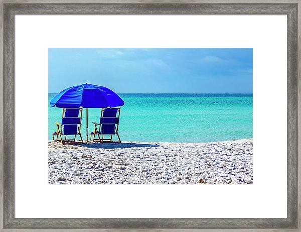 Beach Chair Pair Framed Print