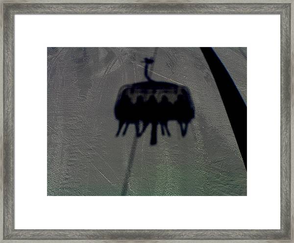Chairlift Shadow Framed Print