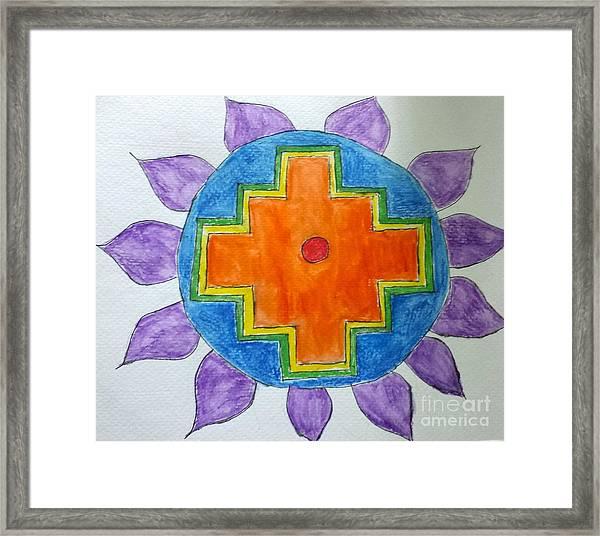 Chakana Inka Cross Framed Print