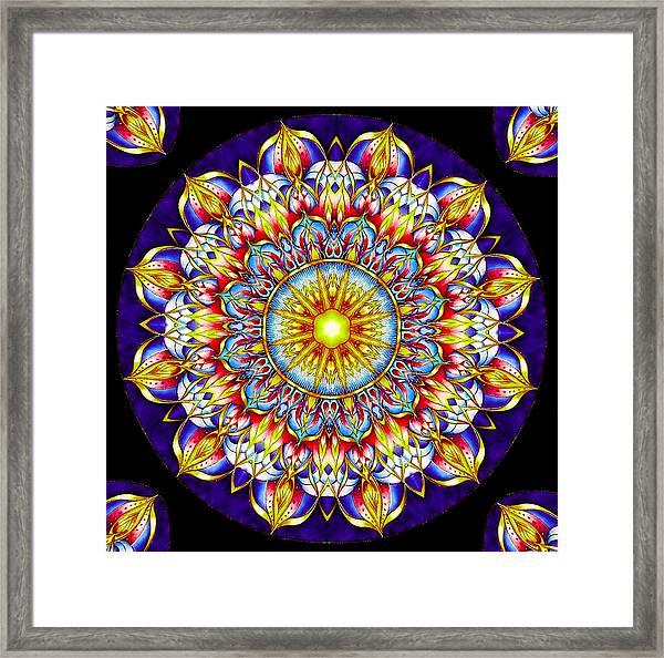 Chakra Zendala Framed Print