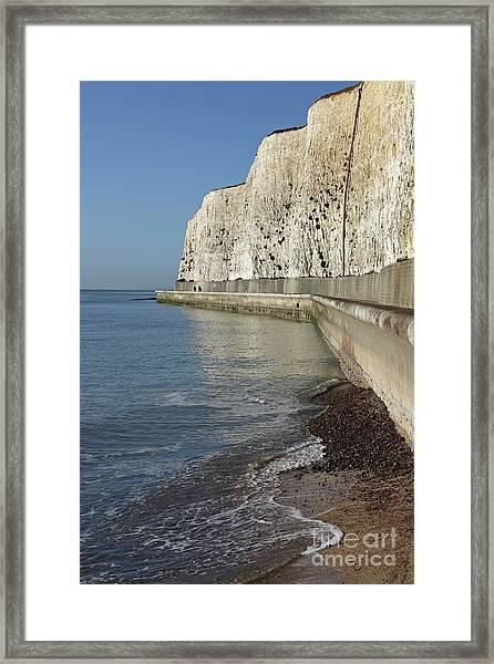 Chalk Cliffs At Peacehaven East Sussex England Uk Framed Print