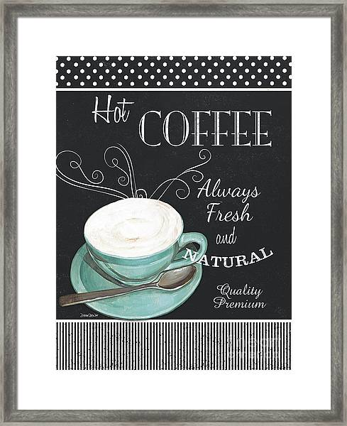 Chalkboard Retro Coffee Shop 1 Framed Print