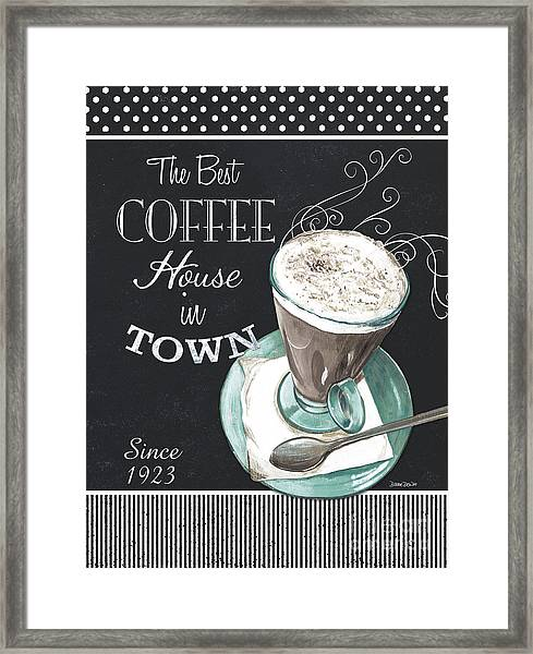 Chalkboard Retro Coffee Shop 2 Framed Print