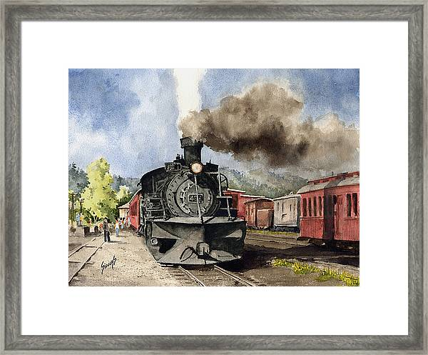 Chama Arrival Framed Print