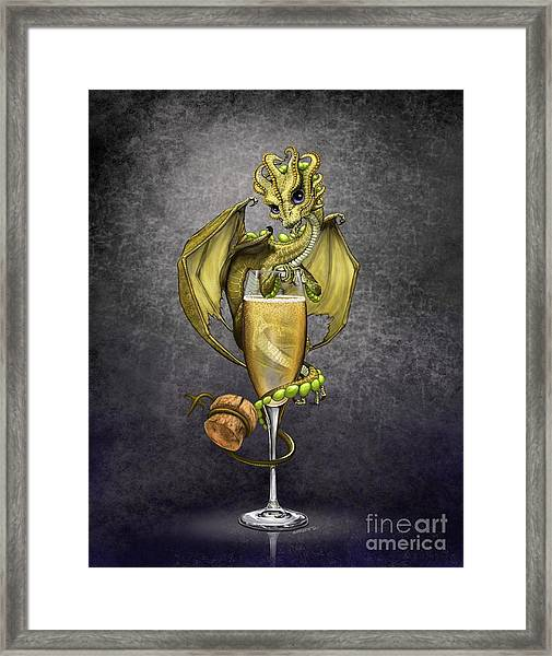 Champagne Dragon Framed Print