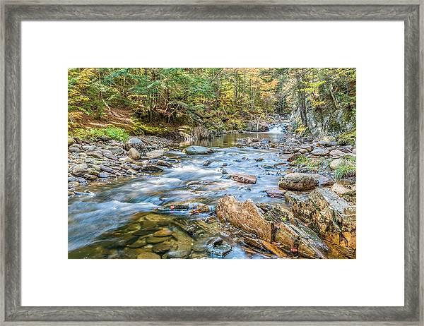 Chandler Mill Stream Framed Print