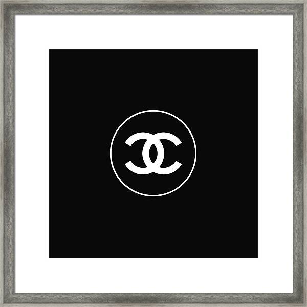 Chanel - Black And White 02 - Lifestyle And Fashion Framed Print