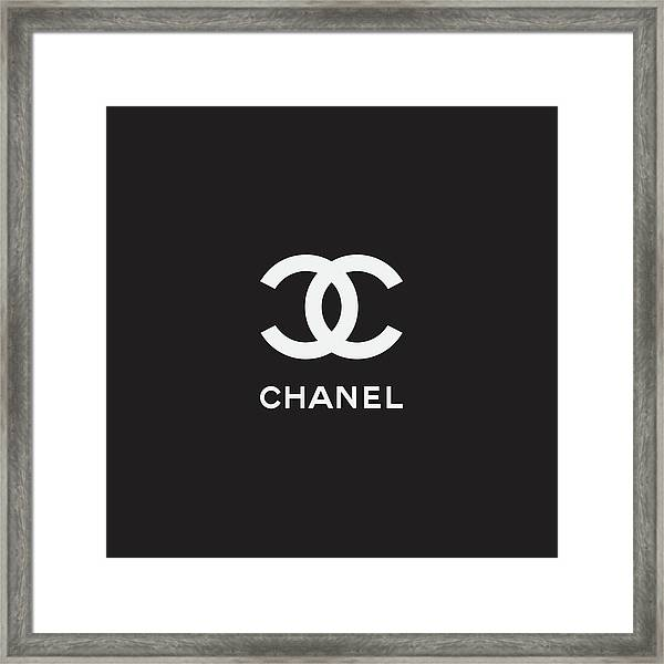 Chanel - Black And White 03 - Lifestyle And Fashion Framed Print