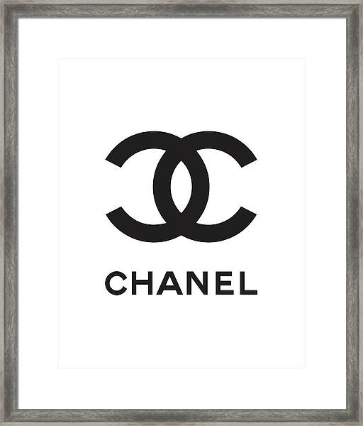 Chanel - Black And White 04 - Lifestyle And Fashion Framed Print