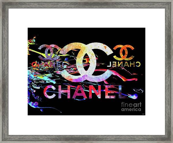 Chanel Black Framed Print