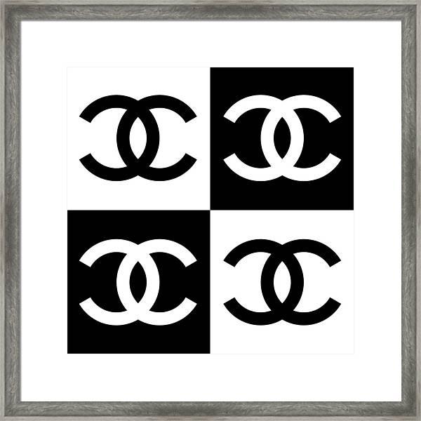 Chanel Design-5 Framed Print
