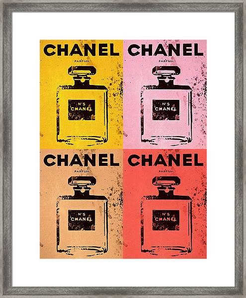 Chanel Five Pop Art Framed Print