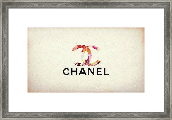 Chanel Floral Texture  Framed Print