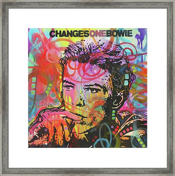 Changes One Bowie Redux Framed Print