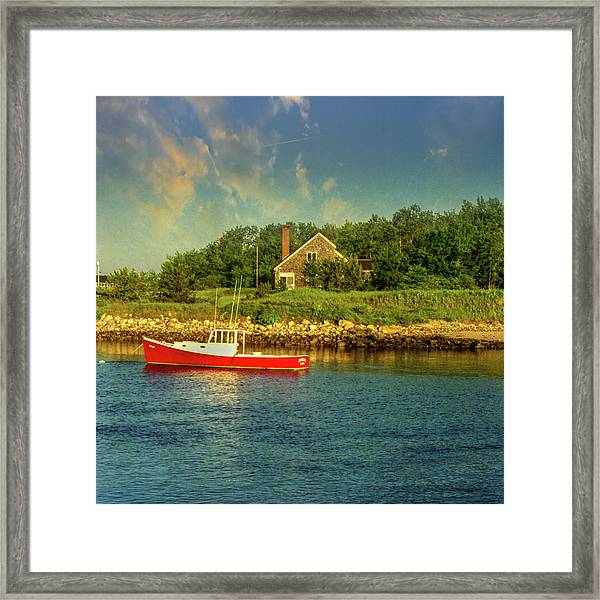 Framed Print featuring the photograph Channel Afternoon by Samuel M Purvis III