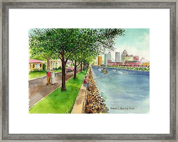 Channel Drive Tampa Florida Framed Print