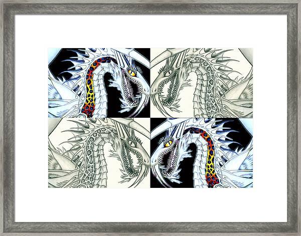 Chaos Dragon Fact Vs Fiction Framed Print