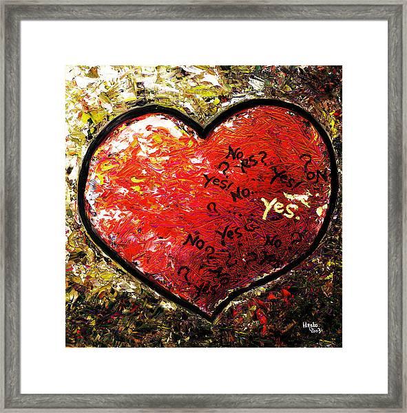Chaos In Heart Framed Print