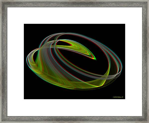 Chaoscope Design 3 - Use Red-cyan 3d Glasses Framed Print