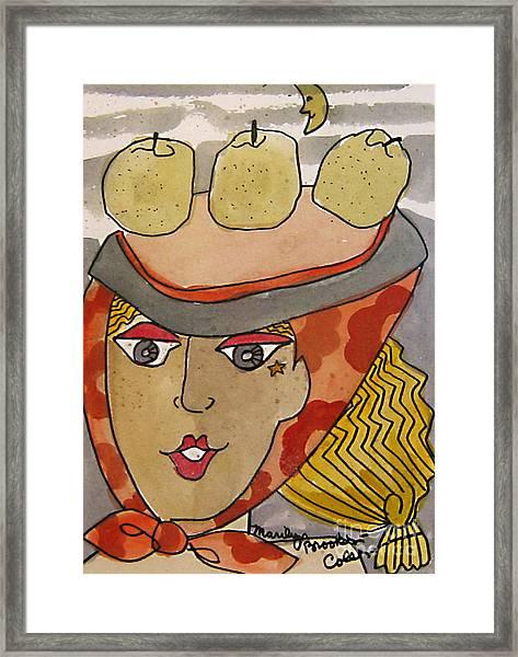Chapeau Pommes Framed Print
