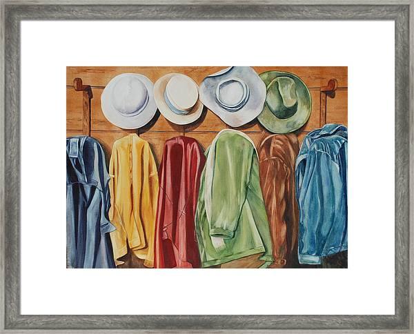 Chapeaux Lanroz Framed Print
